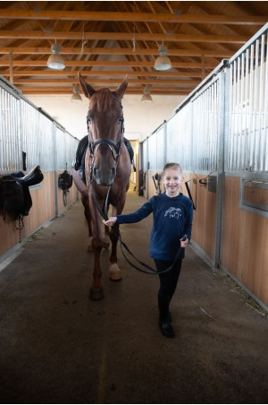 Riding Sweater for Kids - IVY, Equestrian Apparel