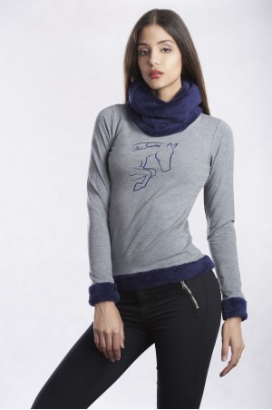 162-102202 CLASS SHOW JUMPING Turtle Neck Winter Sweater