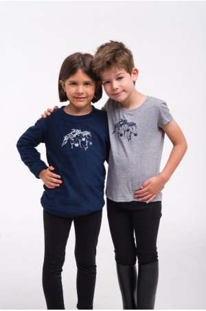 Riding Top for Kids Short Sleeve - IVY, Equestrian Apparel