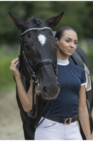 Riding Show Shirt MOON - Short Sleeve. Technical Equestrian Apparel