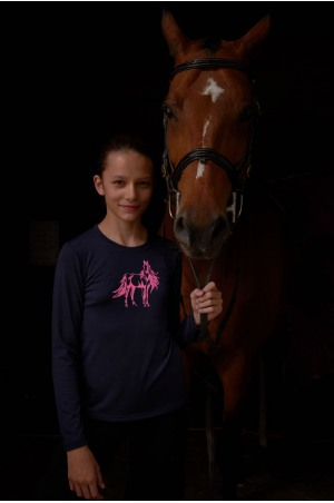 Riding Top for Kids Short Sleeve - STARRY, Equestrian Apparel