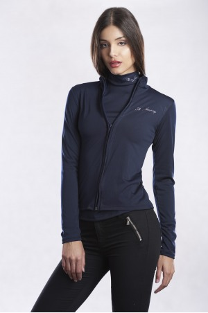 162-104213 NEW SHOW JUMPING Long Sleeve Zip Up Top