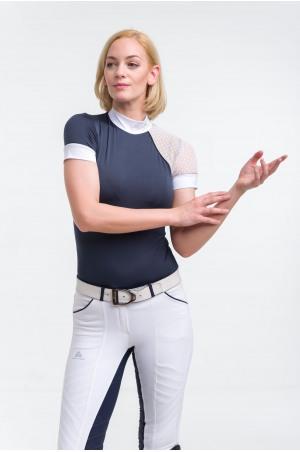 Riding Show Shirt MODERN DAME - Short Sleeve, Technical Equestrian Show Apparel