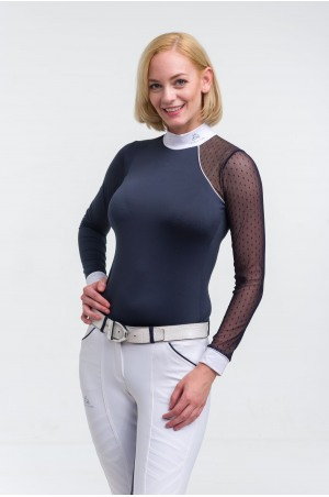 Riding Show Shirt MODERN DAME - Long Sleeve, Technical Equestrian Show Apparel