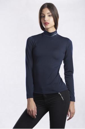 162-105117 NEW DRESSAGE Long Sleeve Zip Up Turtle Neck Top