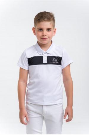 Polo de concours pour garçon LOGAN KIDS-manches courtes, Tenue de compétition équestre