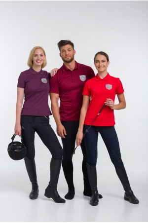 High Performance Riding Technical Pique Polo CAPITAL- Short Sleeve, Equestrian Apparel