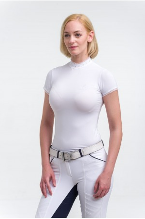 Riding Show Shirt CRYSTAL - Short Sleeve, Technical Equestrian Show Apparel