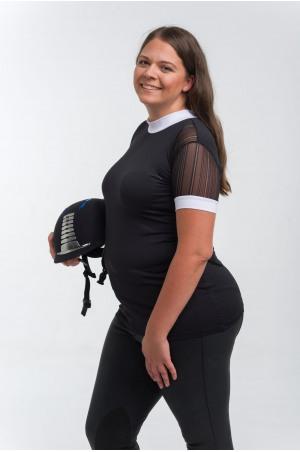 Riding Show Shirt CONTESSA - Short Sleeve, Technical Equestrian Show Apparel