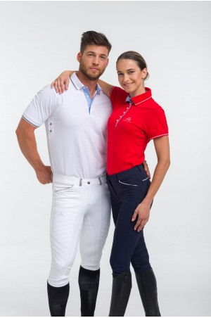 Cotton Based Functional Riding Show Shirt LONDON MAN, Short Sleeve, Technical Equestrian Show Apparel
