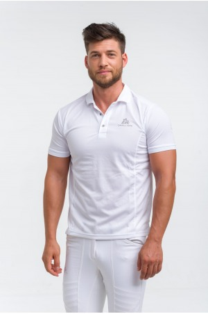 High Performance Riding Technical Pique Polo Show Shirt CAPITAL MAN, Short Sleeve, Technical Equestrian Show Apparel