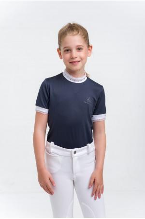Turniershirt CRYSTAL KIDS - Kurzarm, Technische Turnierbekleidung