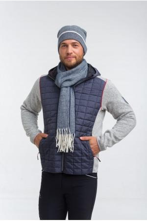 Elegant Knitted Herringbone Scarf DEVON MAN, Equestrian Accessories