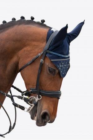 Bonnet d'oreilles pour cheval CRYSTAL BITS-Version courte, Equipement du cheval
