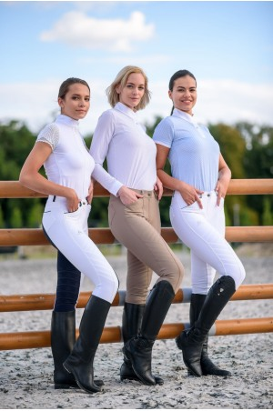 Riding Show Shirt PALAIS ROYAL - Short Sleeve, Equestrian Show Apparel