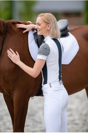 Riding Show Shirt JET SET - Short Sleeve, Technical Equestrian Apparel