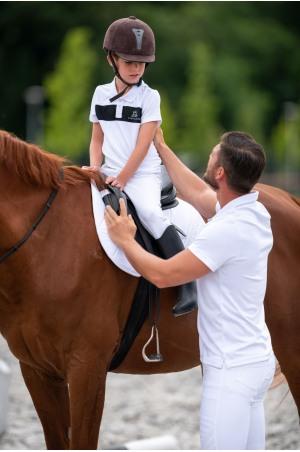 Riding Show Shirt Boy LOGAN KIDS - Short Sleeve, Equestrian Show Apparel
