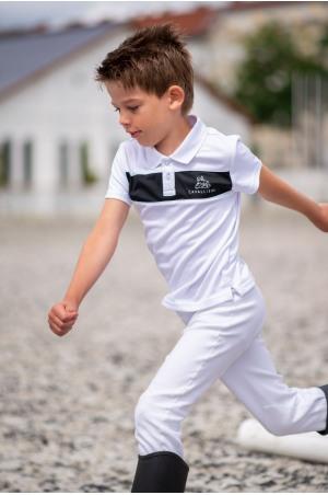 Lovas Versenying Fiú LOGAN KIDS - Rövid Ujjú, Technikai Lovas Versenyruházat