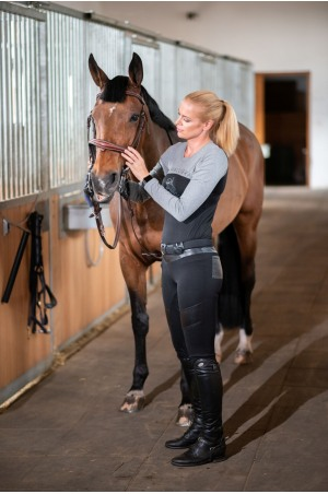 ECO Cotton Based Riding Top SPORTY CHIC - Long Sleeve, Equestrian Apparel
