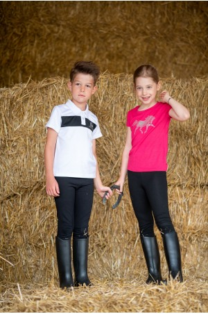 Riding Top for Kids CRYSTAL FOAL - Short Sleeve, Equestrian Apparel