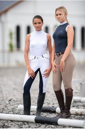 Riding Show Shirt CRYSTAL - Sleeveless, Technical Equestrian Show Apparel