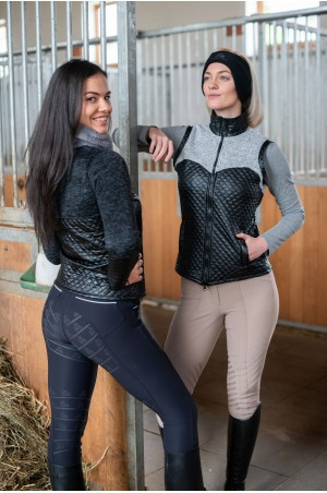 Knitted Riding Vest with Waterproof Inserts - CAPITAL, Technical Equestrian Apparel