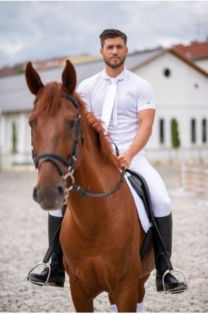 High Performance Riding Technical Pique Polo Show Shirt CAPITAL MAN, Short Sleeve, Technical Equestrian Show Apparel