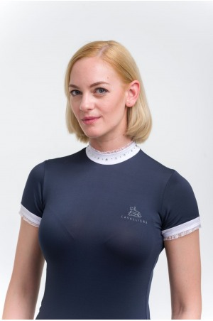 Riding Show Shirt CRYSTAL - Short Sleeve, Technical Equestrian Show Apparel
