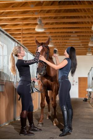 Haut haute performance ROSE GOLD- manches courtes, Tenue technique d'équitation