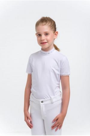 Riding Show Shirt CRYSTAL KIDS - Short Sleeve, Technical Equestrian Apparel