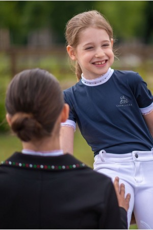 Riding Show Shirt CRYSTAL KIDS - Short Sleeve, Technical Equestrian Apparel