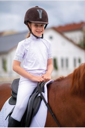 Riding Show Shirt LACY KIDS  - Short Sleeve, Technical Equestrian Show Apparel