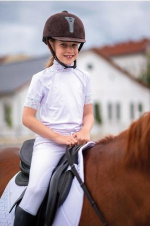 Riding Show Shirt LACY KIDS  - Short Sleeve, Technical Equestrian Show Apparel