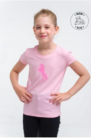 Haut d'équitation pour enfants, manches courtes-JUST PINK, Tenue équestre