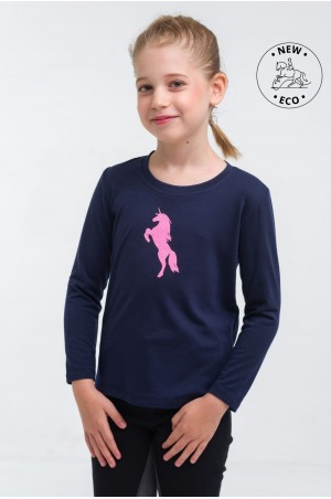 Riding Top for Kids Long Sleeve - JUST PINK, Equestrian Apparel