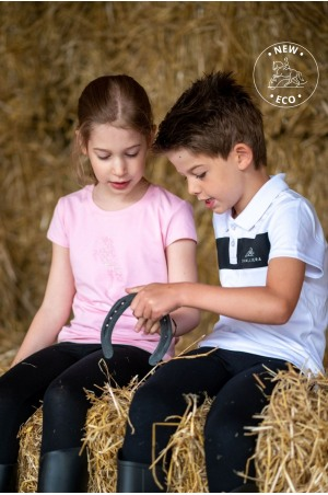 Riding Top for Kids Short Sleeve - JUST PINK, Equestrian Apparel