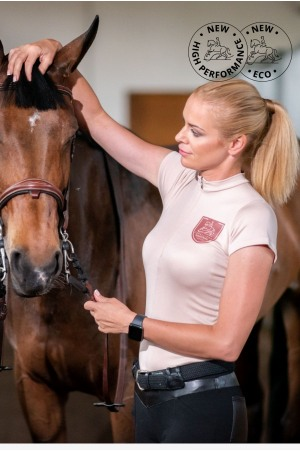 ECO Riding Top Short Sleeve - ROSE GOLD, Technical Equestrian Apparel