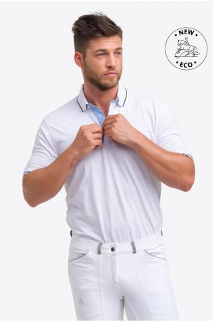 Cotton Based Functional Riding Show Shirt LONDON MAN, Short Sleeve, Technical Equestrian Show Apparel