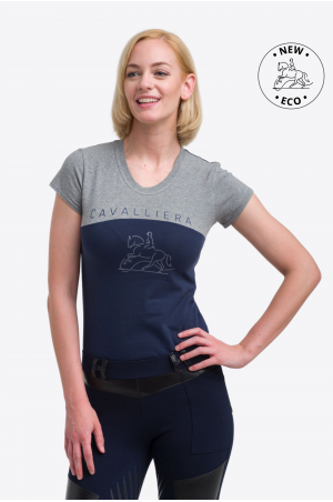 ECO Cotton Based Riding Top SPORTY CHIC - Short Sleeve, Equestrian Apparel