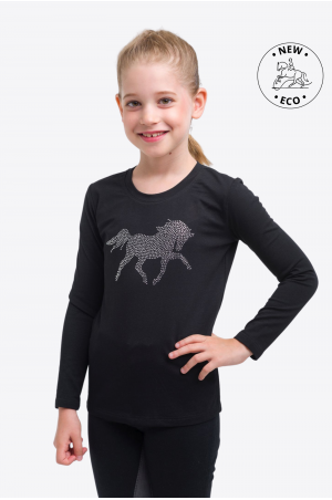 Riding Top for Kids CRYSTAL FOAL - Long Sleeve, Equestrian Apparel