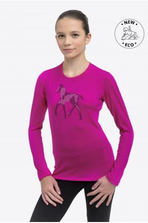 Reiten Top für Kinder Langarm - SPARKLE, Reitsportbekleidung