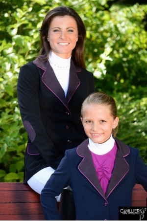 PURPLE DECOR  Racing Jacket with Purple Collar Pocket and Elbow Patches and Purple Crystal Decorations