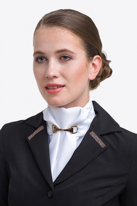 Riding Stock Tie ROSE GOLD HORSE BITS - Equestrian Show Accessories