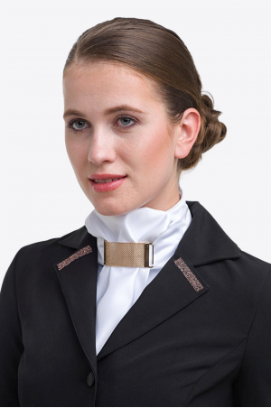 Riding Stock Tie ROSE GOLD JEWEL - Equestrian Show Accessories