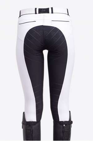 Pantalon de concours ROYAL SPORT-Fond intégral silicone,Tenue de compétition équestre