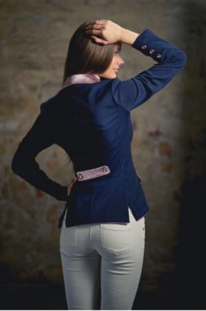 MAUVE SENSATION Competition Jacket with Lacy Mauve Collar an