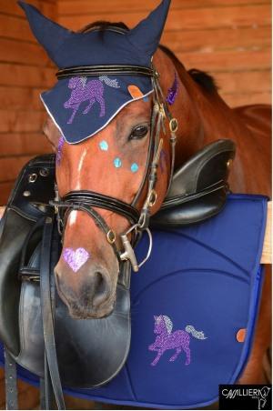 FULL ROSA PONY Saddle Pad with Full Crystal Pony Decoration