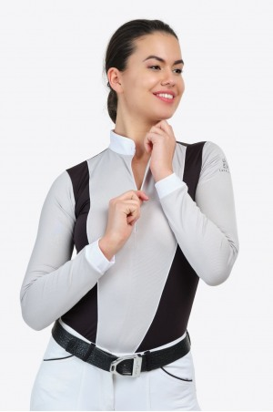 Riding Show Shirt FLAIR - Long Sleeve, Technical Equestrian Apparel