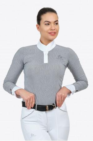 Reiter Turniershirt UNIVERSE - Langarm, Reitsportbekleidung