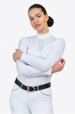 Блуза для выступлений SILVER POP -длинный рукав, из технической ткани